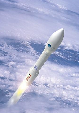 Vue d'artiste du lanceur Véga. Crédits CNES/J.Huart