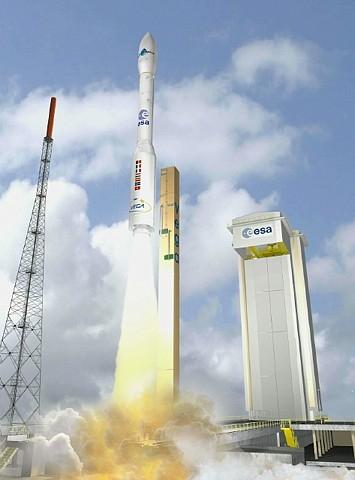 Lancement de Vega depuis le port spatial de Kourou ; crédits CNES